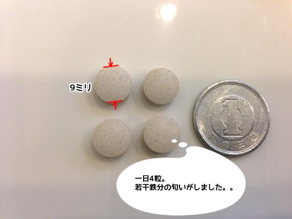ベルタ葉酸サプリ粒の大きさ